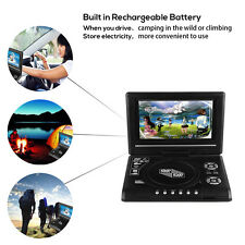 9.8'' Portable DVD Player Rechargeable 270 Swivel Screen Game/USB/FM/SD