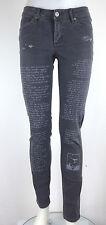 NEUW Denim Jeans - Dahl Storm Scribb Razor Skinny  10R 28W 32R Graffiti