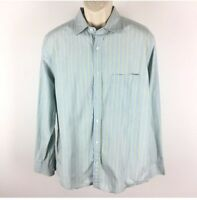 Banana Republic Large Blue Striped 100% Cotton Relaxed Casual Button Down Shirt