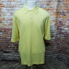 TOSCANO MEN'S SILK BLEND CLASSIC FIT SHORT SLEEVE POLO SHIRT SIZE L A04-26