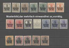 Ober-Ost,aus Nr.1-11,19 Werte,xx,Fartöne,Farben,7a gep.Mi.für billigste = 130,-