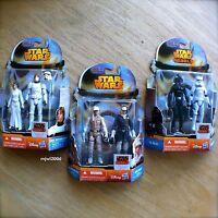 STAR WARS Princess Leia Luke Skywalker Han Solo Stormtrooper HASBRO 3x2PK Bundle