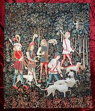 TAPIZ DE ITALIA Tapiz CACCIA UNICORNO arazzo Tapicería CAZA 100x124 cm