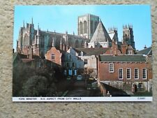 JUDGES.POSTCARD. YORK MINSTER N.E.ASPECT FROM CITY WALLS.NUMBER C 5881.