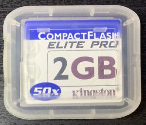 Kingston 2GB ELITE PRO Compact Flash CF Card CF/2GB-S