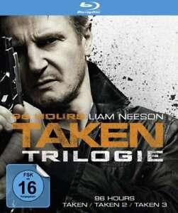96 Stunden / Hours - Taken - Teil: 1-3 [3 Blu-ray's/NEU/OVP] Liam Neeson, Famke