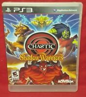 Chaotic Shadow Warriors  - Sony PlayStation 3 PS3 Game Tested + Works