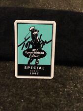 Tom Watson Autographed Signed Byron Nelson VIP Badge Golf PGA