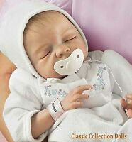 """Ashton Drake """"CHERISH""""- LIFELIKE NEWBORN BABY DOLL-WITH PACI -NEW-IN STOCK NOW !"""