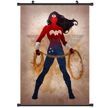 Anime Super Hero Wonder Woman Movie Wall Poster Scroll Home Decor Cosplay 2954