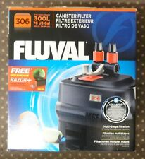 FLUVAL 306 Aquarium Canister Filter A212 All Media included PLUG AND PLAY NEW