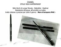 CHANEL STYLO YEUX WATERPROOF STILO OCCHI A LUNGA TENUTA NERO BLACK  EBENE 10