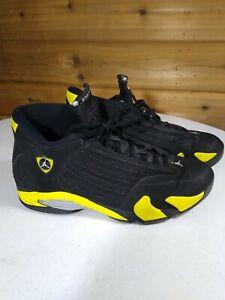 Nike Air Jordan 14 XIV Retro Thunder 487471-070 Size 10.5 Yellow and Black