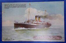 Vintage Postcard L.& N.W. Railway SCOTIA Royal Mail ship Dublin to Holyhead