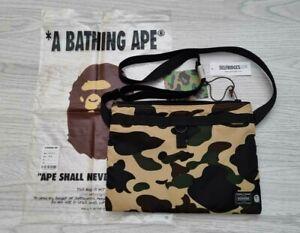 A BATHING APE BAPE x Porter Yoshida 1ST Camo Nylon Cross body Bag -  DS BNWT!