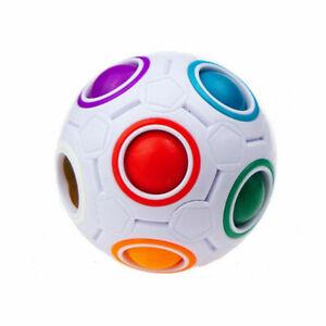 Educational Speed Intelligence Toy Puzzle Magic Cube Rainbow Ball Twist Kit Gift