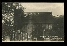 Sussex PRESTON Old Church exterior after 1906 fire PPC used 1906