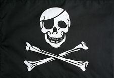 SKULL & CROSSBONES BLACK & WHITE PIRATES FLAG 5 x 3 FT LARGE FLAG POLYESTER NEW