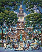 DOWDLE FOLK ART COLLECTORS PUZZLE INDEPENDENCE HALL NATIONAL PARK 500 PCS #00356
