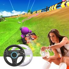 Black Round Racing Kart Steering Wheel For Nintendo Wii Game Remote Controller B