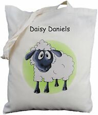 PERSONALISED SHEEP COTTON SHOULDER BAG Shopping LAMB