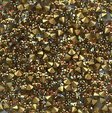 451128***40 STRASS ANCIENS FOND CONIQUE 3,4mm - LIGHT COL. TOPAZ *** x40