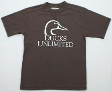 Ducks Unlimited T-Shirt Duckhead Logo Brown New NWT