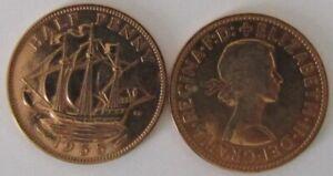 1953-1967 | Elizabeth II Half Penny | Choose Your Year | Free Post + Discounts
