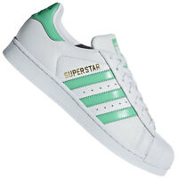 adidas Originals Superstar Herren Sneaker Turnschuhe Schuhe Weiß/Hi-Res Grün