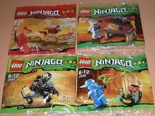 4x Lego Ninjago! Zane , Kay , Jay und Cole! Alle mit viel Zubehör