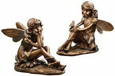 "Gift Craft 10.4"" Polystone Fairy Design Figurines, Small, Bronze - 481701"