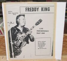 FREDDIE KING BLACK BEAR SERIES LP LIVE PERFORMANCE PART ONE PYTHON BB 904 1972