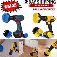 3 Pcs Drill Brush Power Scrubber Set Kit Tile Grout Powered Cleaning Brush Combo