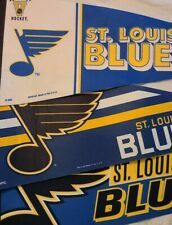"NHL St Louis Blues Three Vintage Style Pennants Approx. 10"" x 30"" Fan Bundle"