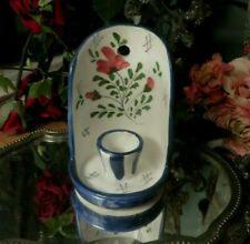 More details for a very pretty vtg. floral ceramic wall mounted  candle holder ~ bougiere