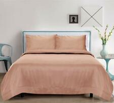 Bamboo Silk 300 TC King Bedsheet with 2 Pillow Covers, Rose Gold