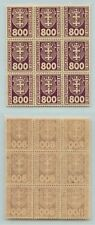 Danzig  1923  SC J20 MNH block of 9 . d7154