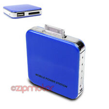 2200MAH EXTERNAL BLUE BATTERY POWER CHARGER USB IPHONE 4S 4 3GS IPOD CLASSIC