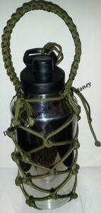 Paracord Bottle Carrier for Yeti , Ozark & Rtic 64oz Bottle Olive Green