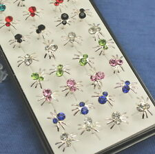 spider Stud Earrings Y-80 Wholesale 40pcs 925sterling solid Silver