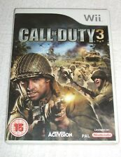 NINTENDO Wii GAME  *** CALL OF DUTY 3 ***  YEAR 2006 - CLEAN AND TIDY - OVER 15s