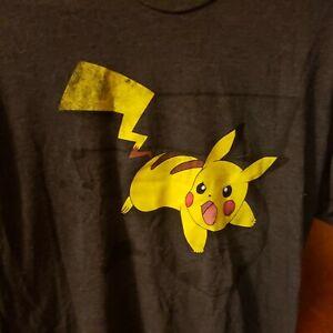 Pokemon Pikachu T Shirt Mens Xlg