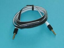 4ft 3.5mm M to M jack Earphone Cable with Control Talk Mic for Monster Beats MP3
