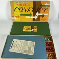 Vintage Parker Brothers Conflict Board Game 1960 w/ wear  AS IS  for restoration