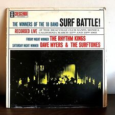 Winners of the 18 Band Surf Battle by The Rhythm Kings 1963 Vinyl Mono 1st Press