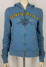 Victoria's Secret PINK blue full zip hoodie hooded sweatshirt ladies Large