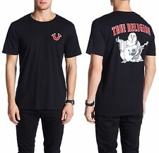 TRUE RELIGION Black Crew Neck Big Buddha Cotton T-Shirt Sz.Medium NWT $69