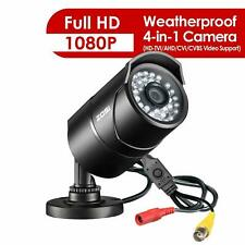 ZOSI 1080P 4in1 Security Camera Home CCTV Bullet Outdoor 2.0MP IR Night Vision