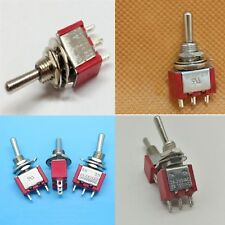 100 x INTERRUTTORE ON OFF ON a leva da pannello DEVIATORE 1 via 3A 250V 100Pz