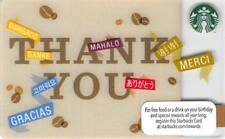 Starbucks Thank You Gift Card 2013 Multi-Lingual Collectible NEW NV - Pin Cover